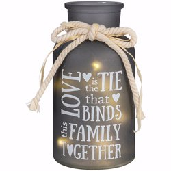 Family Lighted Vase