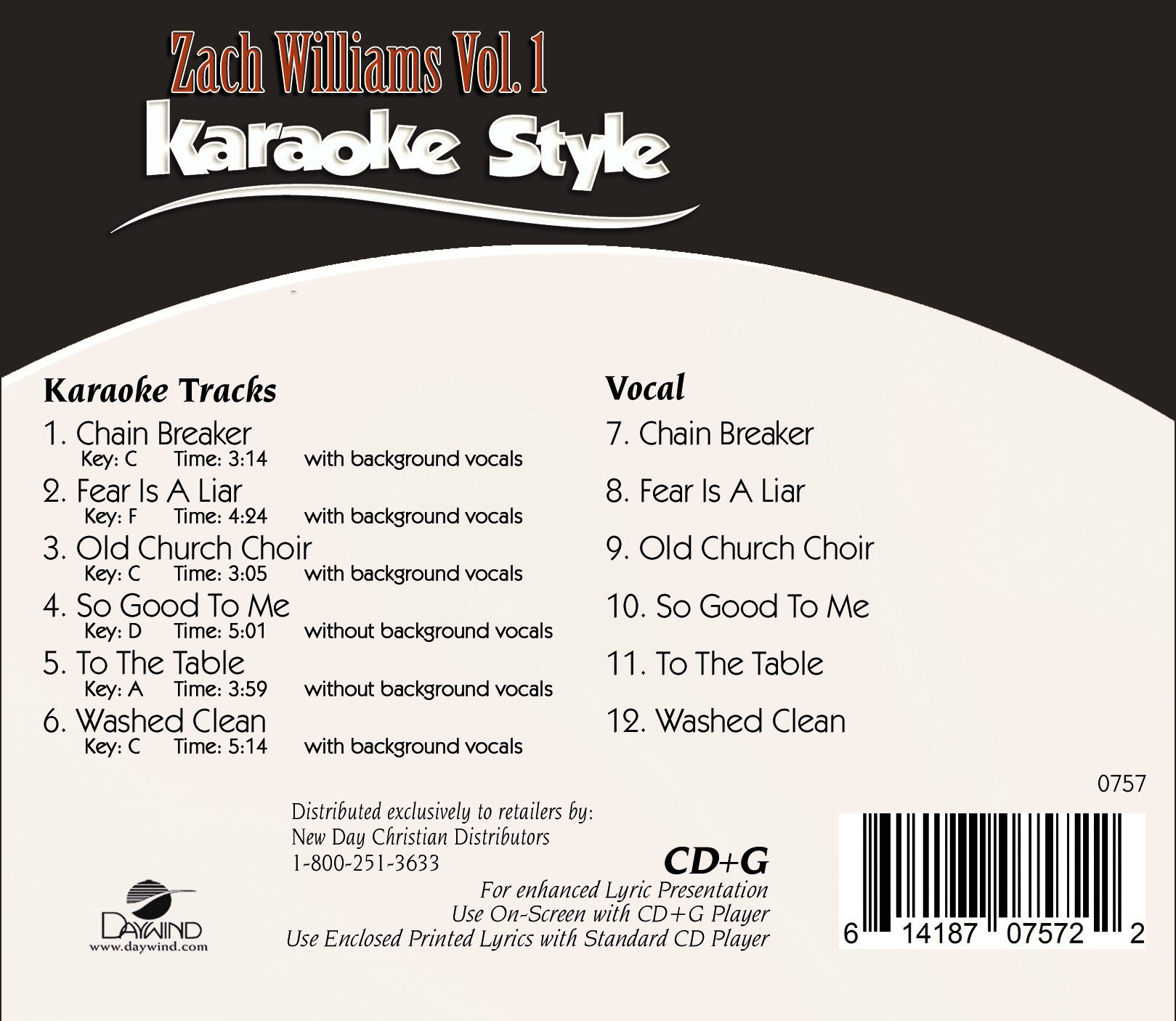 Karaoke Style Zach Williams Vol 1 Karaoke Daywind Com