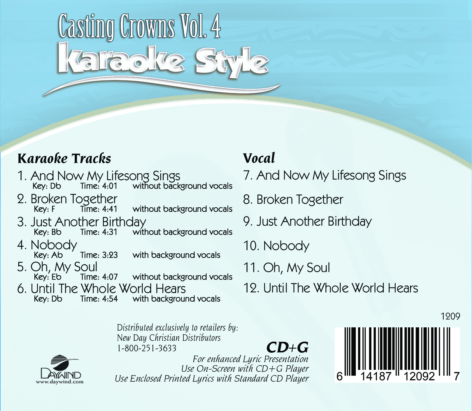 Karaoke Style Casting Crowns Vol 4 Casting Crowns Karaoke Daywind Com Stay tuned nobody by casting crowns, make sure you hit the post notifications! karaoke style casting crowns vol 4