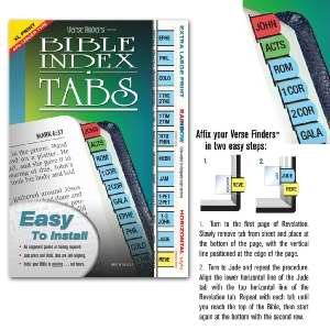 Verse Finders Horizontal Index Tabs, Extra Large, Rainbow
