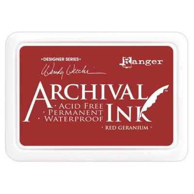 Archival Ink Pad Red Geranium