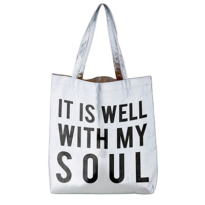 It Is Well With My Soul Platinum Tote Bag
