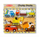 Construction Vehicles Wooden Chunky Puzzle (6 pcs)
