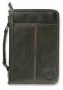 Aviator Leather-Look Bible Cover (Brown, XL)