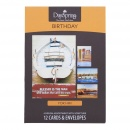 Masculine Nautical Birthday Boxed Greeting Cards (12 Count with Embossed Envelopes)