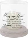 Amazing Grace Glass Hurricane Candle