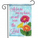 Garden Flag: Serve The Lord