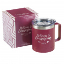 Be Strong & Courageous Camp Style Stainless Steel Mug
