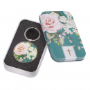 That My Joy May Be In You: Floral Keyring in Tin