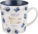 Ceramic Mug: Hope & A Future Graduation Cap (14oz)