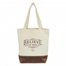 Believe in Him Canvas Tote Bag