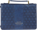 Blue Faux Leather Fashion Bible Cover | Jeremiah 29:11 | Medium Book Cover
