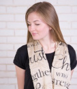 (Tan) Trust In The Lord Infinity Inspirational Scarf