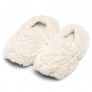 Warmies Slippers: Cream