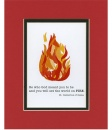 Be Who God Meant You To Be, St. Catherine of Siena Matted Print