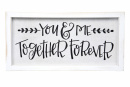 You & Me Framed Linen Sign