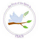 Fruit-Full Kids Plate: Peace image