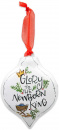 Christmas Ornament: Glory to the King (Metal)