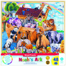 Noah's Ark 48 Piece Wood Puzzle