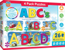 Educational ABC's Puzzles (4 Pack)