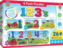 Educational 123's On the Farm Puzzles (4 Pack)