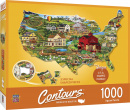 United States 1000 Piece Shaped Puzzle