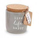 Live Life Happy Pazitive Candle