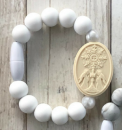 White & Pearl First Holy Communion Bracelet (Size 2)