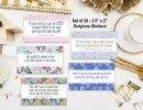 Set of 20 Inspirational Scripture Stickers