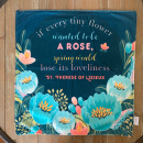 Saint Therese Ultra Soft Lovey Blanket