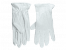 Usher Gloves: Plain White (Small)