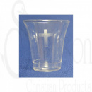 Clear Communion Cups with Cross