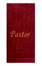 Pastor Towel (Burgundy)