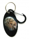 Basketball Zipper Pull Tag