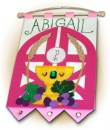 1st Communion Banner: Gates (Pink)