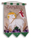 1st Communion Banner: Lamb (Green)