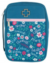Bible Cover: Women Of The Bible (Floral/Teal/Large)