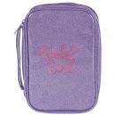 God's Girl Bible Cover: Purple and Pink (Large)