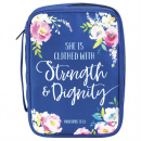 She Is Clothed With Strength & Dignity Bible Cover (XL)