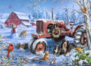 Christmas on The Farm Jigsaw Puzzle (1000 Piece)