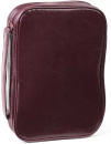 Burgundy Leatherette Bible Cover Case with Handle (XXL)