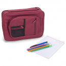 Burgundy Reinforced Canvas Bible Cover Case with Handle and Stationary (Large)