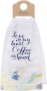 Inspirational Linen Tea Towel: Love In My Heart