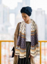 Holy Land Gifts Prayer Scarf (Blue with 3 Patterns)