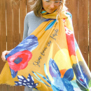 Shine From The Inside Floral Scarf (Mustard)
