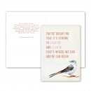Lean On and Lean In Card + Envelope
