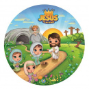 Jesus is my King Round Plate