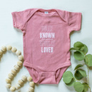 Fully Known & Wholly Loved | Mauve Baby Onesie (12M)