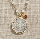 Vintage Blessings Necklace: St. Benedict