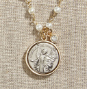 Vintage Blessings Necklace: Guardian Angel